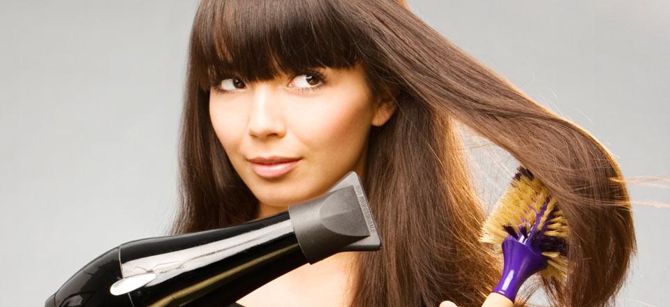 Фен для волос с насадкой браун