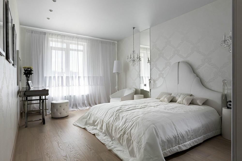 Дизайн проект белой спальни