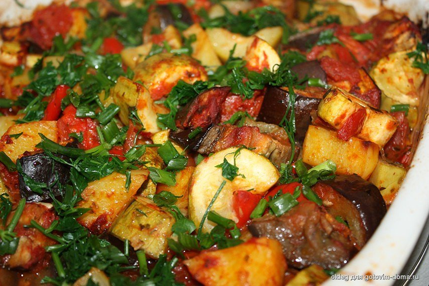 Овощные блюда в мультиварке рецепт с фото