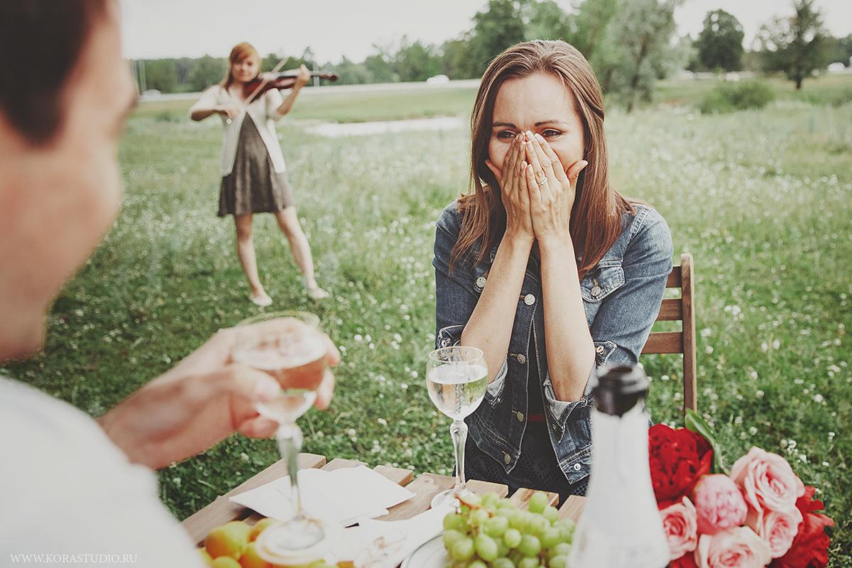 Как сделать романтичное предложение руки 878