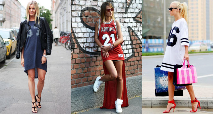 спортивные платья футболки