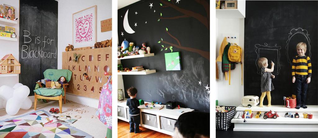 стены детской для рисования мелом