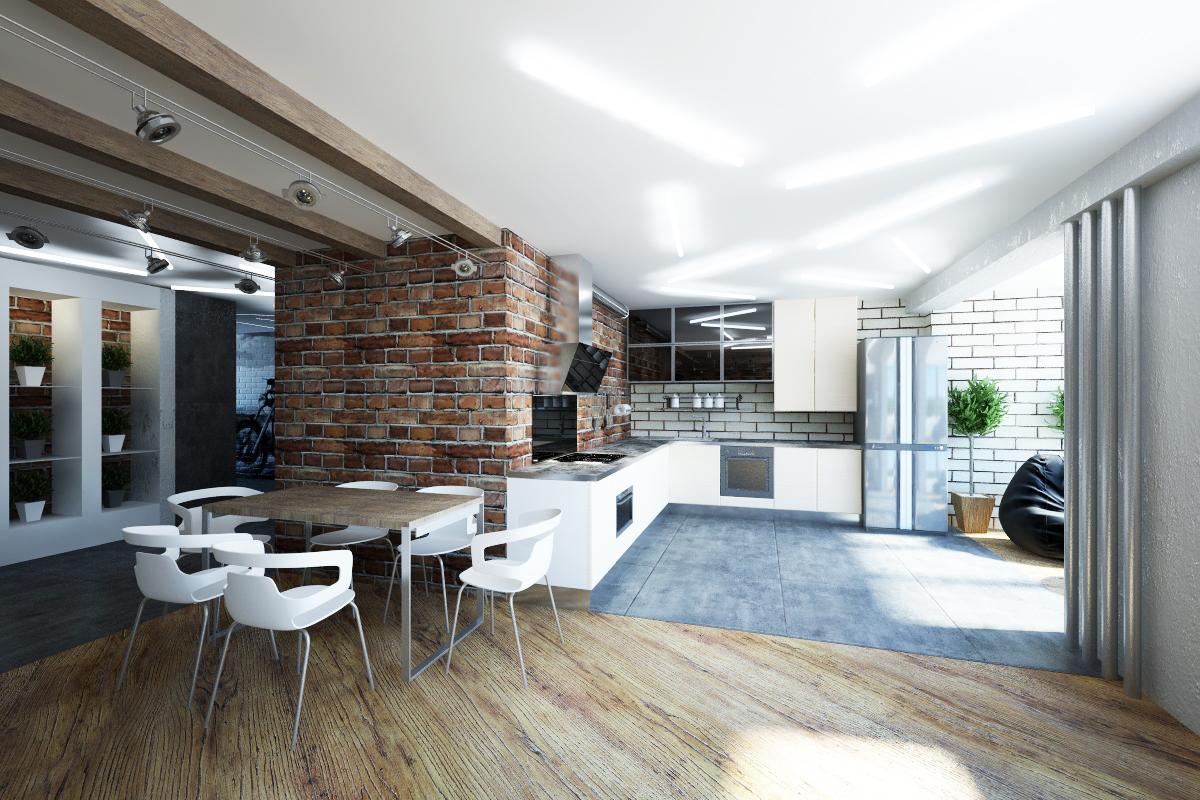 Дизайн интерьера квартир лофт